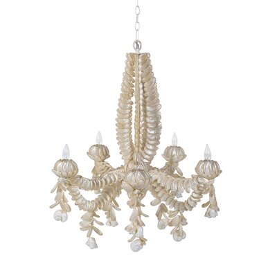 Abalone 5-Light Candle-Style Chandelier