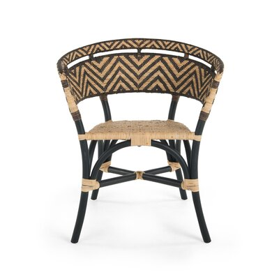 Avice 2 Piece Zig-Zag Rattan Club Side Chair