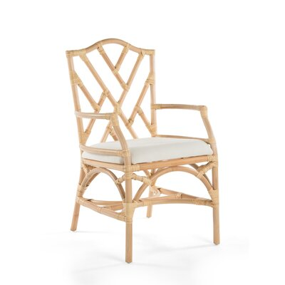 Margrett Rattan Arm Chair Color: Natural