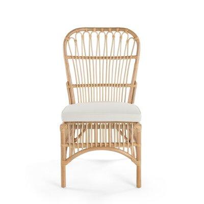 Deloris Rattan Side Chair Color: Natural