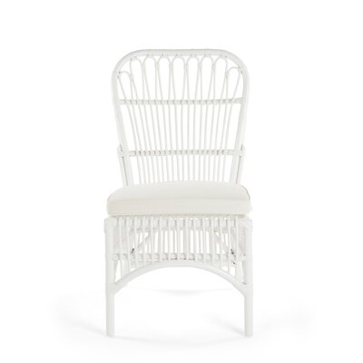 Deloris Rattan Side Chair Color: White