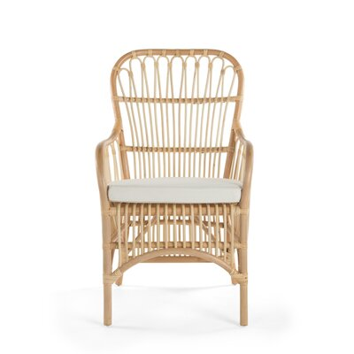Deloris Rattan Arm Chair Color: Natural