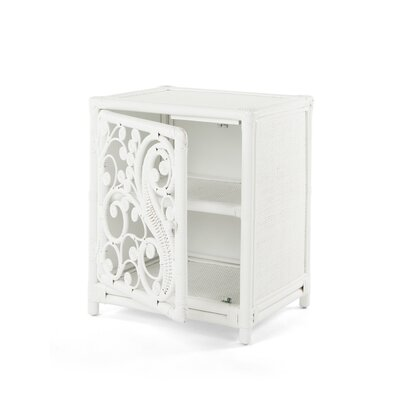 Rosana Peacock Nightstand Orientation: Left, Color: White
