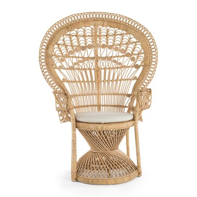 Carin Rattan Armchair Color: Natural