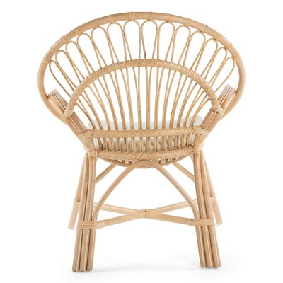 Deloris Rattan Armchair Color: Natural