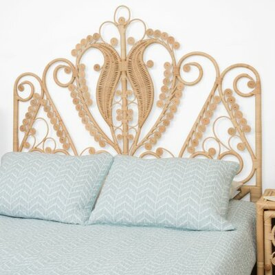 Rosana Rattan Headboard Size: Full, Finish: Natural