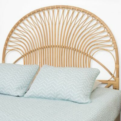 Deloris Rattan Headboard Size: Full, Color: Natural