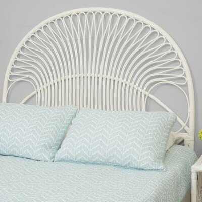 Deloris Rattan Headboard Size: Twin, Finish: White