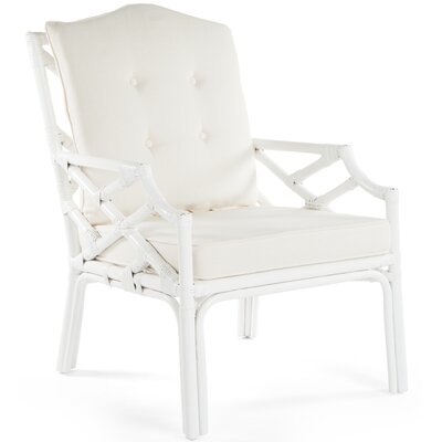 Margrett Rattan Armchair Color: White