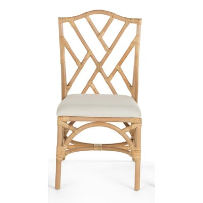 Margrett Rattan Side Chair Color: Natural