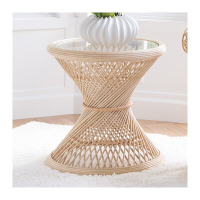 Rosana Rattan Side Table Color: Natural