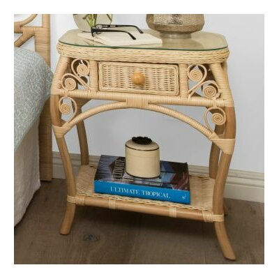 Patton Rattan Side Table Color: Natural