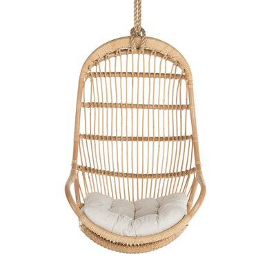 Blucher Hanging Rattan Swing Chair Color: Natural