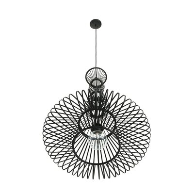 Board Bamboo Balluster 1-Light Inverted Pendant