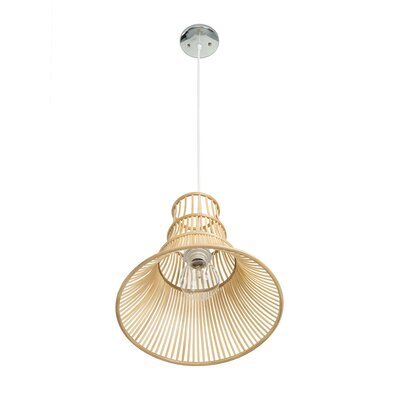 Somerton Bamboo Trumpet 1-Light Inverted Pendant