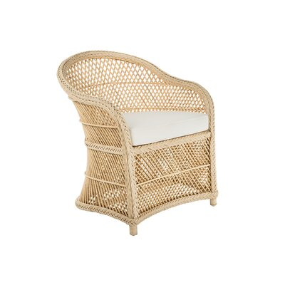 Grand Ridge Rattan Lounge Arm Chair with Armrest