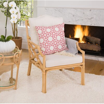 Margrett Rattan Armchair Color: Natural