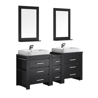 Pascara 72 Double Vanity Set with Mirror