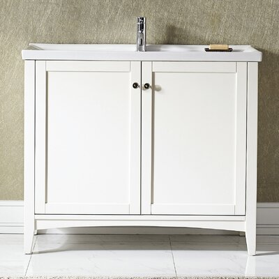 Aguilar 40 Single Bathroom Vanity Set Base Finish: White