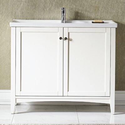 Asti 40 Single Vanity Set Base Finish: White