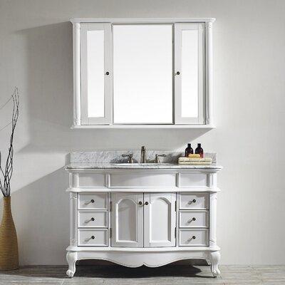 Leflore 48 Single Vanity Set with Mirror Base Finish: White
