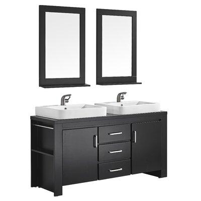 Pascara 63 Double Vanity Set with Mirror