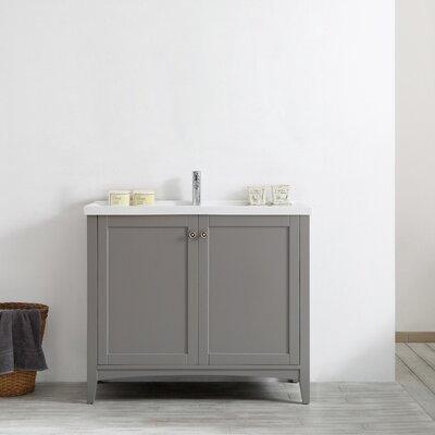 Asti 40 Single Vanity Set Base Finish: Grey