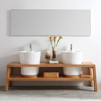 Lecce 78 Double Vanity Set with Mirror