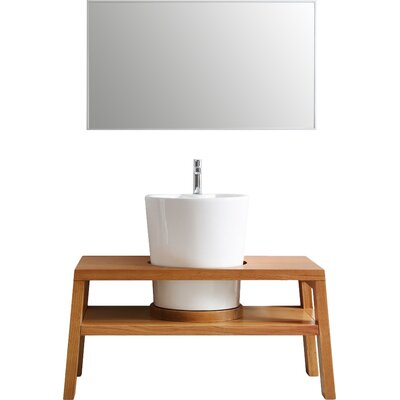 Lecce 47 Single Vanity Set with Mirror