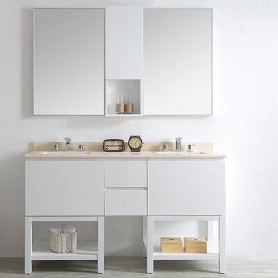 Venzia 60 Double Vanity Set with Mirrors