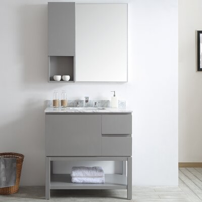Venzia 36 Single Vanity Set with Mirror