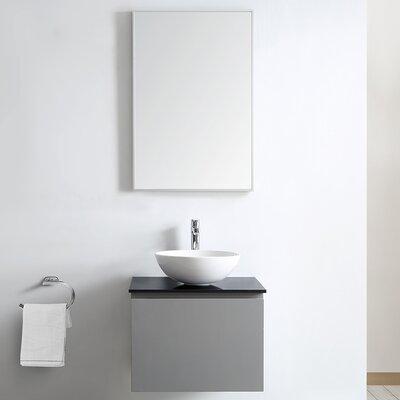 Ferrara 24 Single Bathroom Vanity Set with Mirror Base Finish: Gray