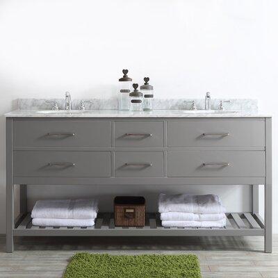 Foligno 72 Double Vanity Set Base Finish: Gray