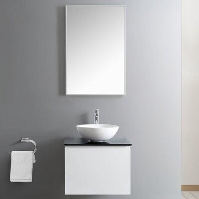 Ferrara 24 Single Bathroom Vanity Set with Mirror Base Finish: White