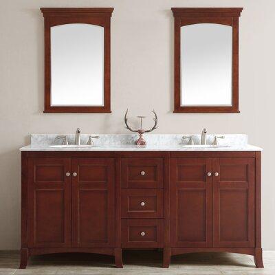Arezzo 72 Double Vanity Set with Mirrors Base Finish: Antique Cherry