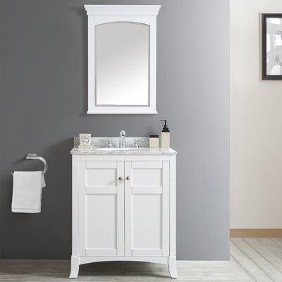 Arezzo 30 Single Vanity Set with Mirror Base Finish: White