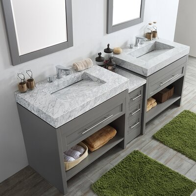 Bolzana 84 Double Vanity Set with Mirrors