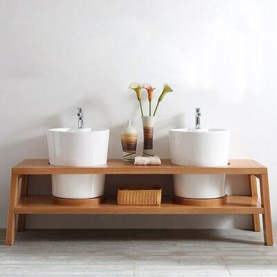 Lecce 78 Double Bathroom Vanity Set
