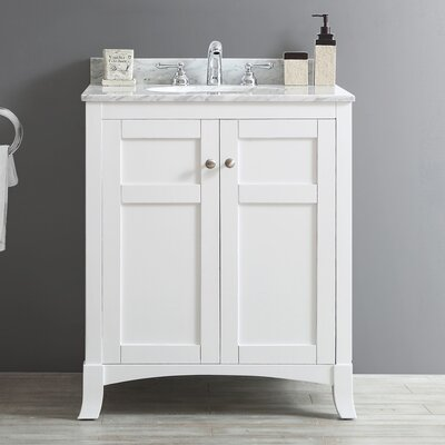 Arezzo 30 Single Vanity Set Base Finish: White