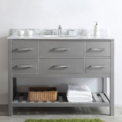 Foligno 48 Single Vanity Set Base Finish: Gray