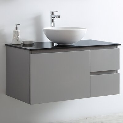 Ferrara 36 Single Bathroom Vanity Set Base Finish: Gray