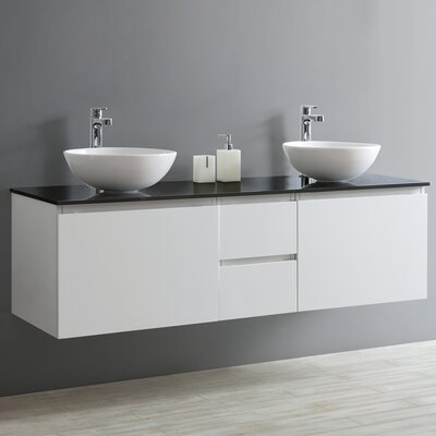 Ferrara 60 Double Vanity Set Base Finish: White