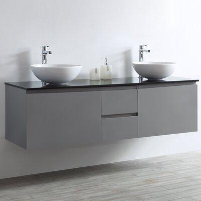 Ferrara 60 Double Vanity Set Base Finish: Gray