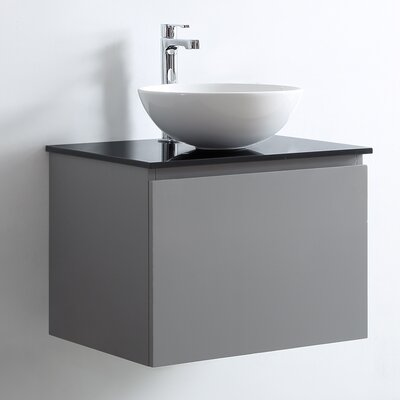 Ferrara 24 Single Vanity Set Base Finish: Gray