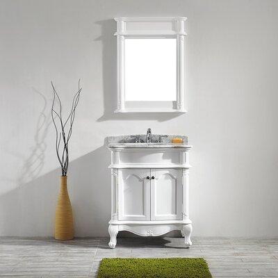 Leflore 30 Single Vanity Set with Mirror Base Finish: White