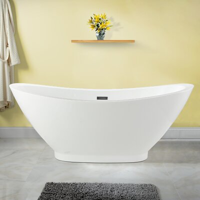 Cassia 69 x 33.5 Soaking Bathtub