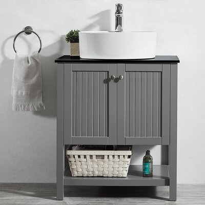 Modena 28 Single Bathroom Vanity Set Base Finish: Gray