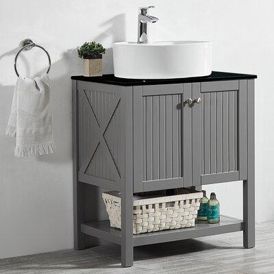 Kandice 28 Single Bathroom Vanity Set Base Finish: Gray