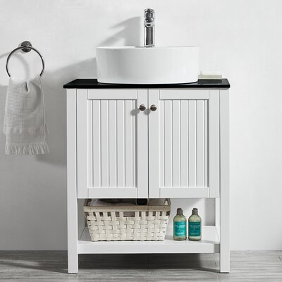 Modena 28 Single Bathroom Vanity Set Base Finish: White
