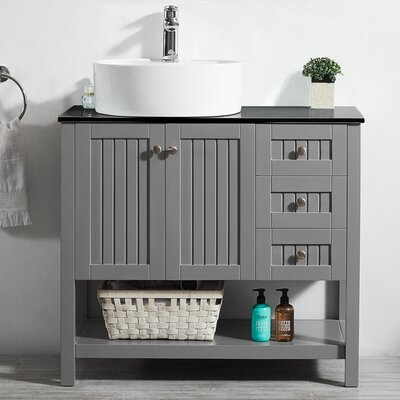 Modena 36 Single Bathroom Vanity Set Base Finish: Gray